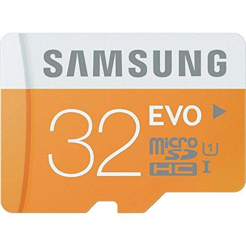 Samsung Speicherkarte MicroSDHC 32GB EVO UHS-I Grade 1 Class 10 für Smartphones und Tablets, mit SD Adapter