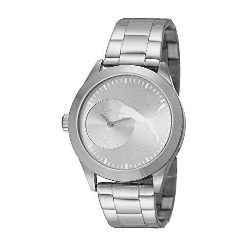 [プーマ] PUMA 腕時計 Women's Bling Metal Silver Analog Display Quartz Silver Watch クォーツ PU103582001 レディース [TimeKingバンド調節工具& HARP高級セーム革セット]【並行輸入品】