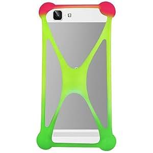 Casotec Universal Silicone Bumper Frame Soft Gel Phone Case Cover for Vivo X5 Max - Multicolor