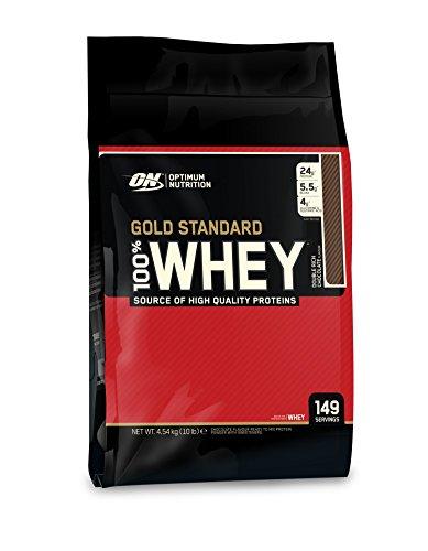 Optimum Nutrition Gold Standard 100% Whey Protein Powder - Double Rich Chocolate, 4.54 kg