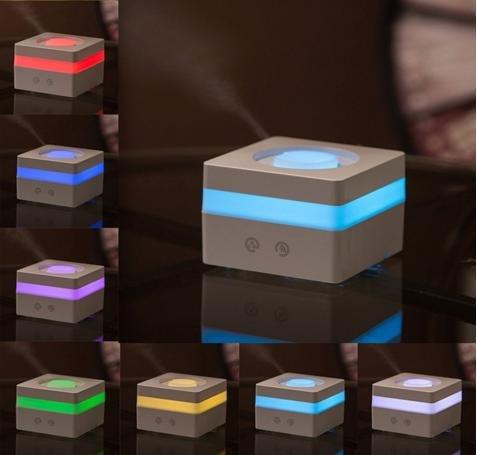 おしゃれ で かわいい 超音波式 卓上 アロマ 加湿器 アロマディフューザー 携帯にも便利で人気 防カビタイプ (ホワイト)