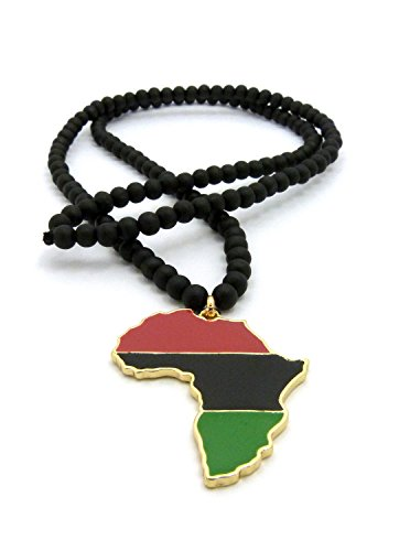 Pan african colored africa map pendant 6mm 30 wooden bead pan african colored africa map pendant aloadofball Image collections
