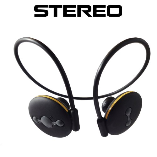 Black Wireless Stereo Bluetooth Headset With Built-In Mic For All Samsung Phones