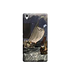 Ebby Premium Printed Back Case Cover With Full protection For Sony Xperia M4 (Designer Case)