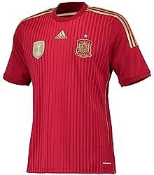 アディダス スペイン代表 ホームユニフォーム 2014 [8 シャビ] [サイズ:インポートS] Adidas Spain National Team Home Shirt 2014 [8 Xavi] [Size:Import S] [並行輸入品]