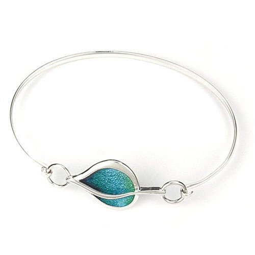 Leah Bangle, Silver, Model SEBG00881H, by Ortak