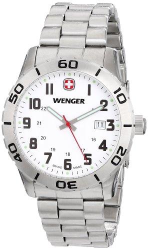 Wenger Men's 741.102 Analog Swiss-Quartz Silver Watch