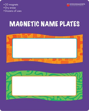 Dowling Magnets Magnetic Name Plates, 20 Count
