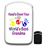 Hand's Down World's Best Grandma For Amazon Kindle Fire & Kindle 3G Keyboard Soft Protection Neoprene Case Cover Sleeve Bag With Pocket which is Ideal for Headphones, Data Cable etc