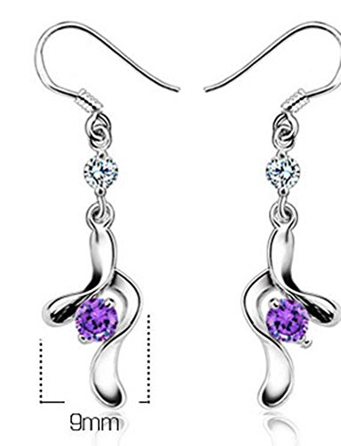 SaySure - 925 Sterling Silver New Fashion Purple Crystal Party