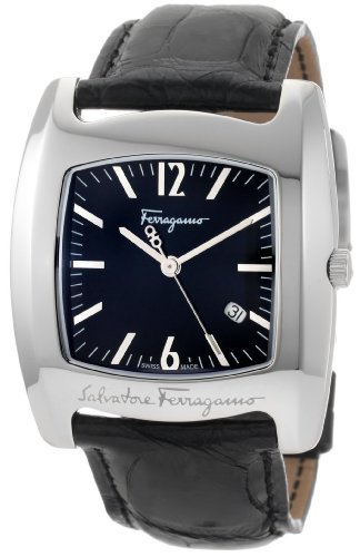 Ferragamo Women's F51LBQ9909 S009 Vara Genuine Alligator Leather Black Dial Watch