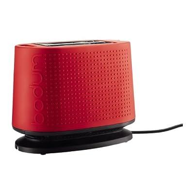 Bodum Bistro Toaster, 2 Slot, Red by Bodum