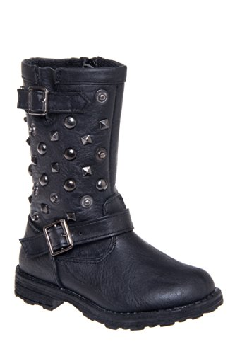 Eddie Marc Kid's 6053 Low Heel Mid Calf Studded Boot