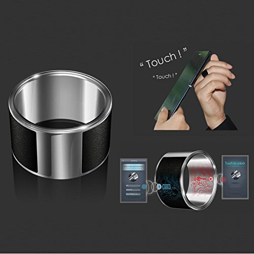 Atongm Intelligent Magic Rings for Android Mobiles NFC Smart Ring Size M (Black)