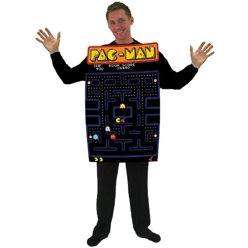 Incogneato Unisex Pac-Man Video Game Screen Poncho Adult
