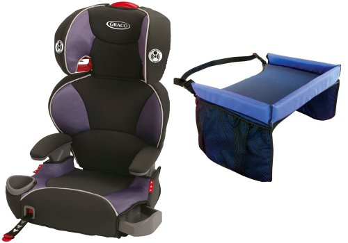 Graco Affix Youth Booster Seat With Latch System & Snack Tray, Grapeade front-932898