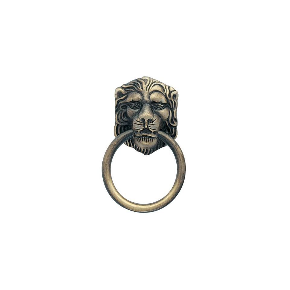 Amerock 888ABS Lion Head Ring Pull QTY Knob, Antique Brass