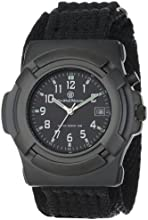 Smith & Wesson Men's SWW-11B GLOW Lawman Black Nylon Strap Watch