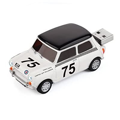 4GB Mini Cooper USB Flash Memory Drive - Racing Car by JellyFlash