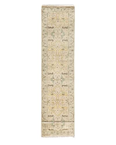 eCarpet Gallery One-of-a-Kind Hand-Knotted Royal Ushak Rug, Cream, 2' 7 x 19' 10 Runner