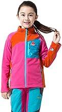 Makino Little Boys39Girls39 Full Zip Fleece Jacket - Stand CollarSoft 238-3