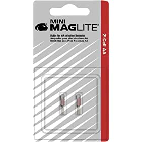 MAGLITE LM2A001 Replacement Lamp for AA Mini Flashlight, 2-Pack