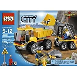 Toy / Game Lucky Lego City 4201 Loader And Tipper With 2 Mining Helmets, Hatchet, Lifting Bucket & Dumping