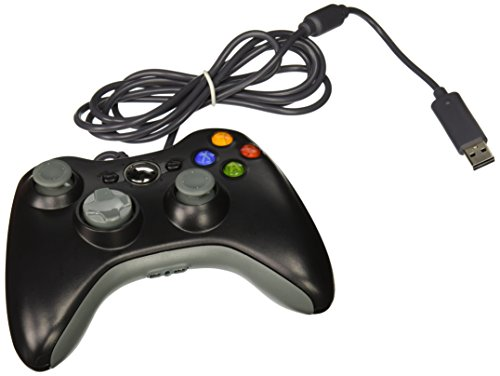 TNP Xbox 360 Wired Controller (Black) USB Pad Joystick Joypad Gamepad Game Controller for Xbox 360 Slim and PC Computer Laptop Windows 7 [Xbox 360] (Fps Controller Pc compare prices)