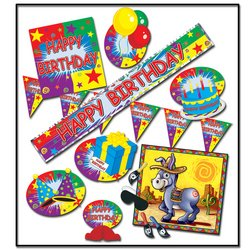 Happy Birthday Party Kit Party Accessory (1 count) (9/Pkg)