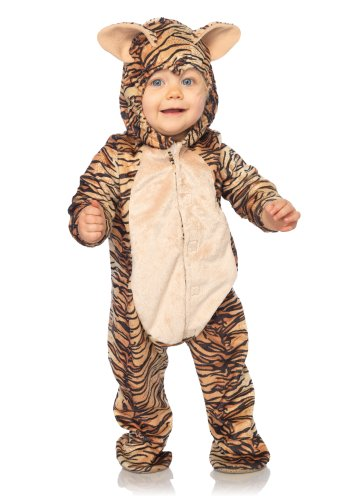 Leg Avenue Costumes Baby Tiger Hooded Bodysuit with Non Skid Sole