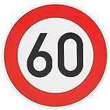 ORIGINAL VERKEHRSSCHILD 60 KM/H Schild DN 60 cm Nr. 274-56 zum Geburtstag als Geburtstagsgeschenk...