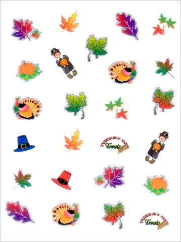 Nail Art Stickers:Joby nail stickers Thanksgiving - TH-02