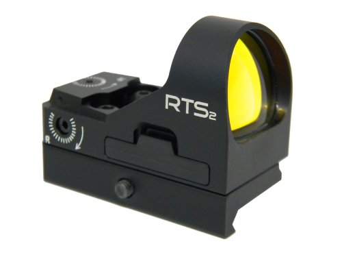 C-MORE Systems RTS2 3 MOA Red Dot Sight with Rail Mount, Black