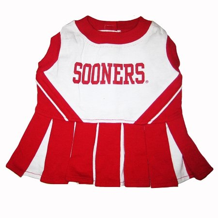 Mirage Pet Products Dog Apparel Oklahoma Sooners Sports Pet CheerLeading Dress Uinform outfit XS