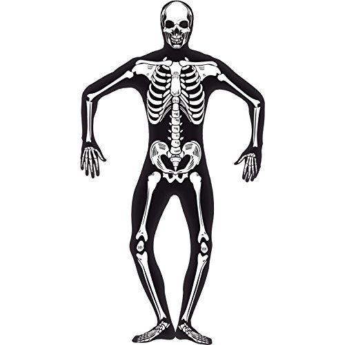 Glow-in-the-Dark Skeleton Skin Suit Adult Costume (Glow In The Dark Skeleton Suit)