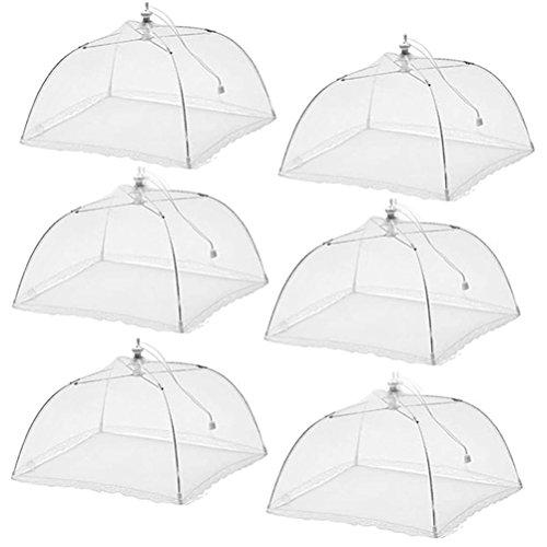 Set of 6 Esfun Pop-Up Mesh Food Cover Tent Umbrella,17