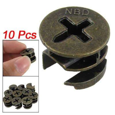 Amico Furniture Cabinets Metal Cam Fittings Connectors 10 Pcs
