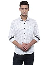 GIVO White Floral Print Casual Shirt