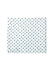 Pocket Square In White Fabric With Small Polka Dot (Brown|Purple|Black)