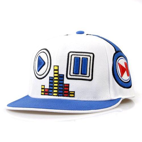 Locomo Men Women Hip Hop Embroidered Music Player Baseball Cap White Ffh055Wht