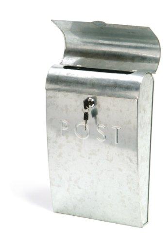 Garden Trading Galvanised Post Box with Lock
