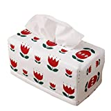 ( UN ANANAS )チューリップ テッシュケース カバー 綿 おしゃれ かわいい ボックス 2箱