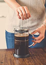 French Press --by RITUAL-- Coffee Press (36 Ounce) with Thick Professional Grade All Glass Body and Handle, Zinc Lid, and Silicone Heat Resistant Base by RITUAL