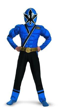 Blue Ranger Samurai Classic Muscle Costume - Large (10-12)