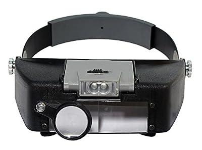 SE MH1047L Illuminated Multipower LED Binohead Magnifier from Sona Enterprises