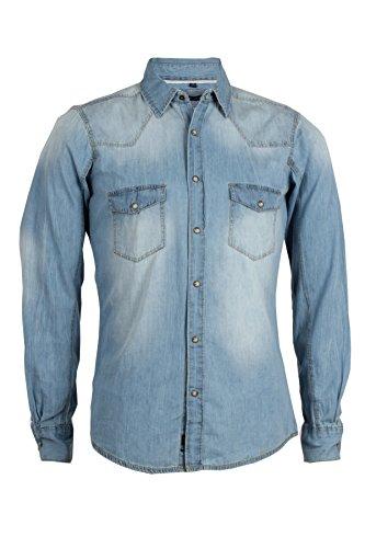 Camicia jeans Thor silver wash - Taglia: XXL