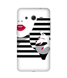 Black and White Stripes Samsung Galaxy Core 2 Case