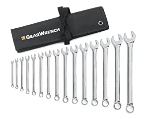 GearWrench 81918 15 Piece SAE Combination Wrench Set