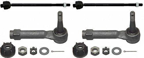 Prime Choice Auto Parts TRK3029-TRK3190 Set of 2 Front Inner and 2 Outer Tie Rod Ends (01 Pontiac Montana Tie Rod compare prices)