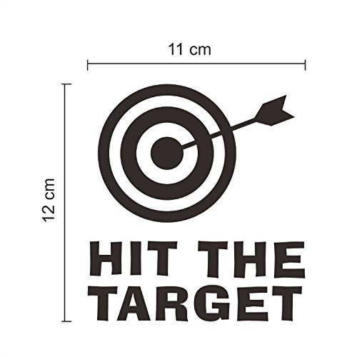 Ecloud ShopUS® HIT THE SPOT Training Target waterproof removable wall-stickers Toilet Decals